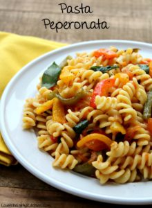 Pasta Peperonata (Roasted Peppers and Tomatoes)