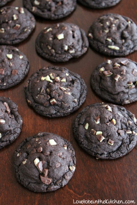 Chocolate Cake Mix Cookies With Peppermint Patties