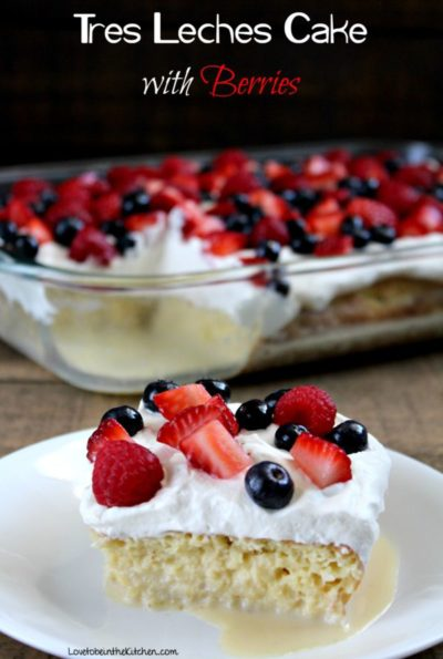 Tres Leches Cake with Berries main