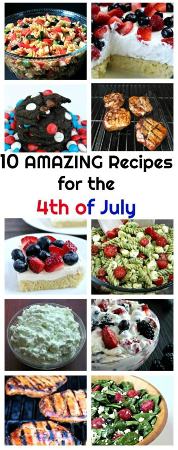 10 Amazing Recipes for the 4th of July