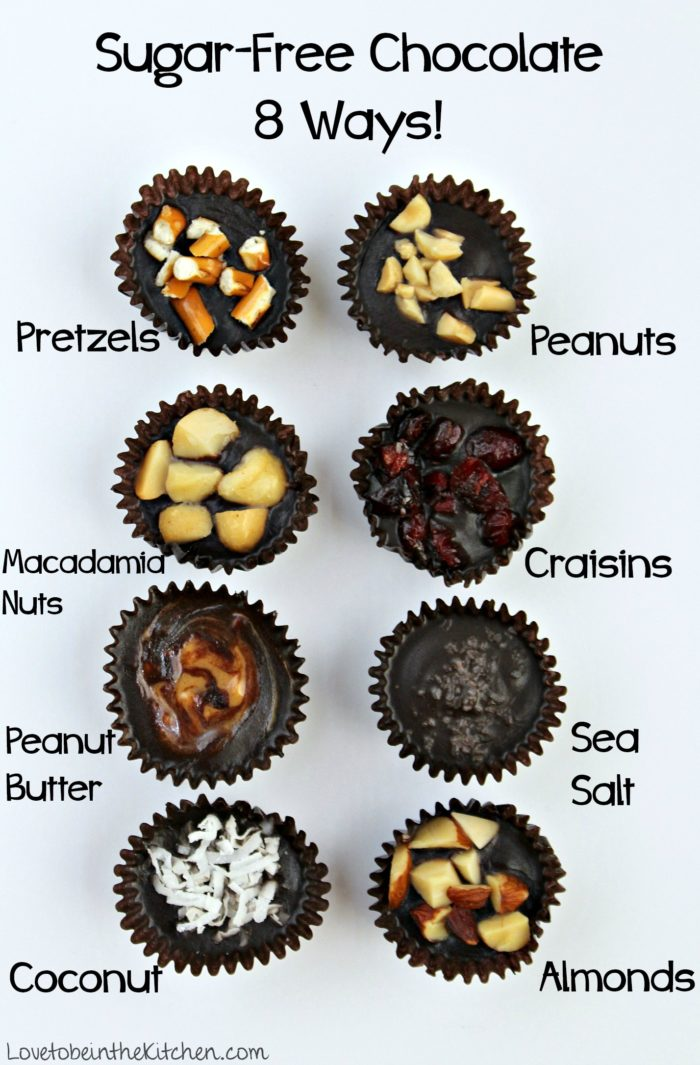 Sugar-Free Chocolate Bites 8 Ways!