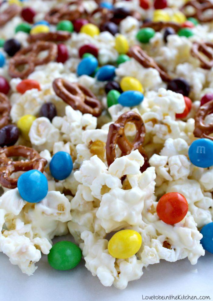 Sweet & Salty White Chocolate Popcorn