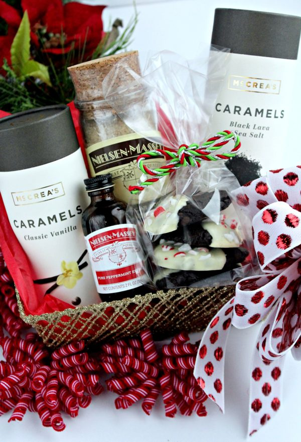 Nielsen-Massey Vanillas and McCrea's Candies Gift Basket with cookies