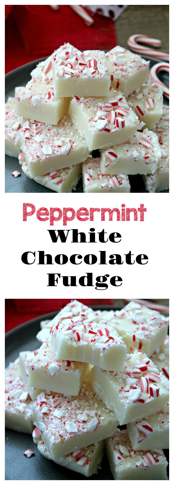 Peppermint-White Chocolate Fudge