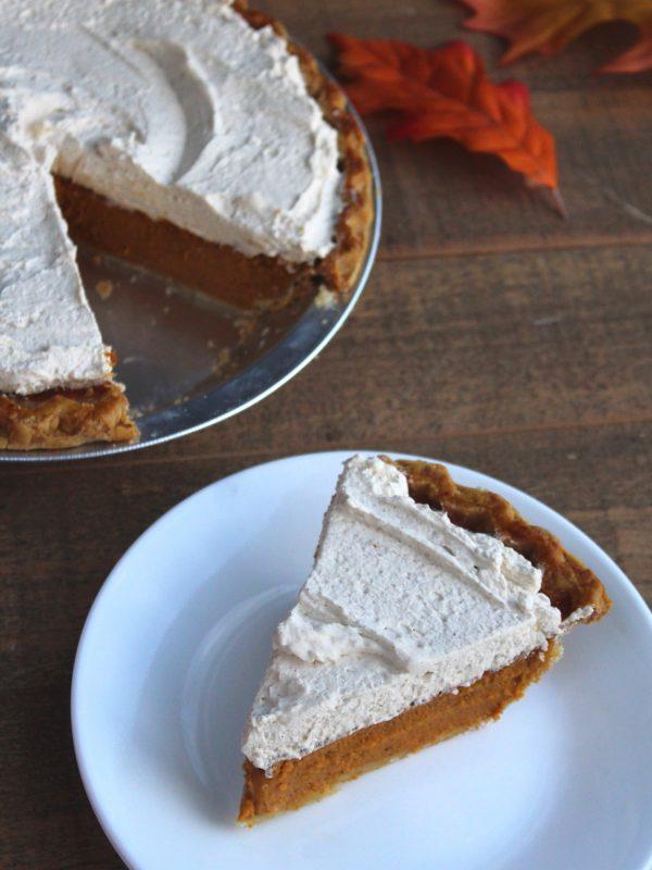 slice of Pumpkin Cream Pie