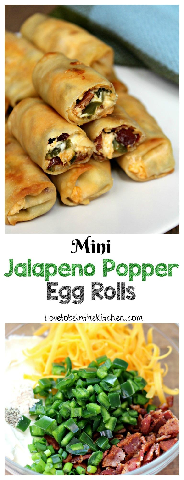 Mini Jalapeno Popper Egg Rolls