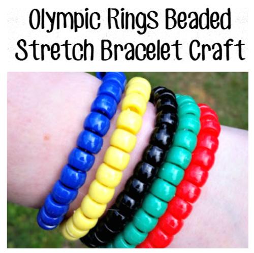 Olympic Ring Beaded Stretch Bracelet Craft