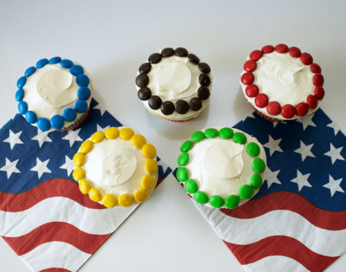 Olympic Rings Cupcakes