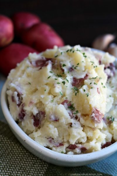 Garlic Parmesan Mashed Potatoes