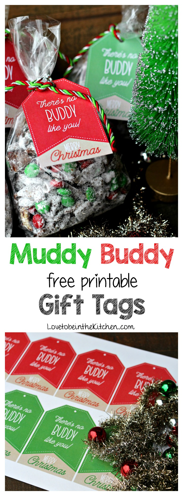 Muddy Buddy Free Printable Gift Tags