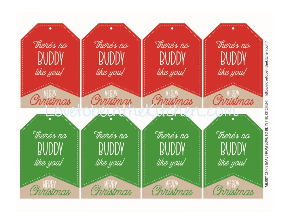 Muddy Buddy Christmas Tags