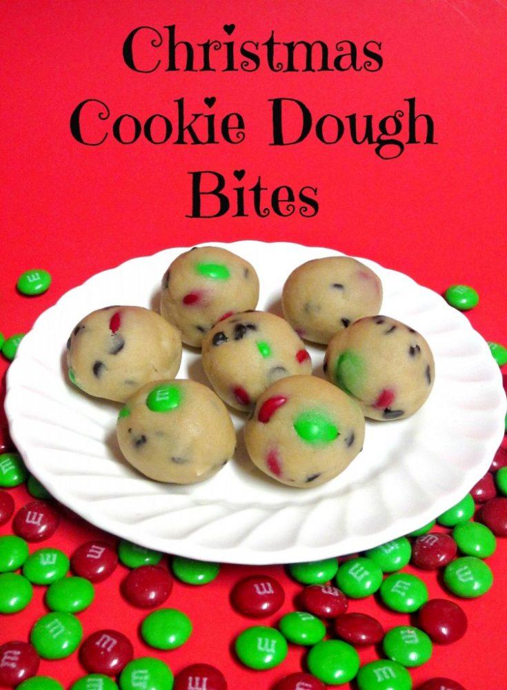 Christmas Cookie Dough Bites