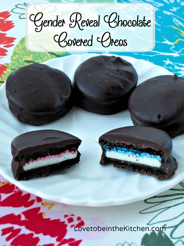 Gender Reveal Chocolate Covered Oreos