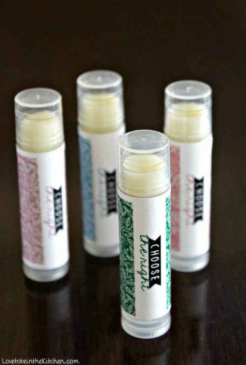 Homemade Lip Balm with Choose the Right Labels