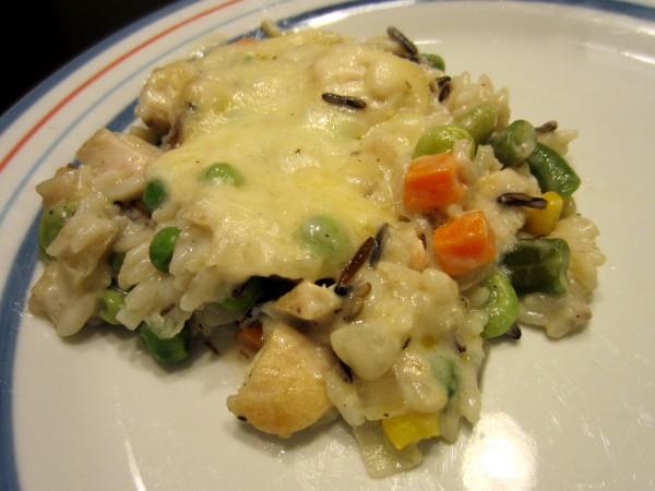 Wild Rice & Chicken Casserole