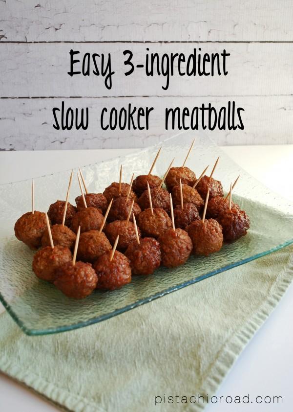 Easy 3-Ingredient Slow Cooker Meatballs