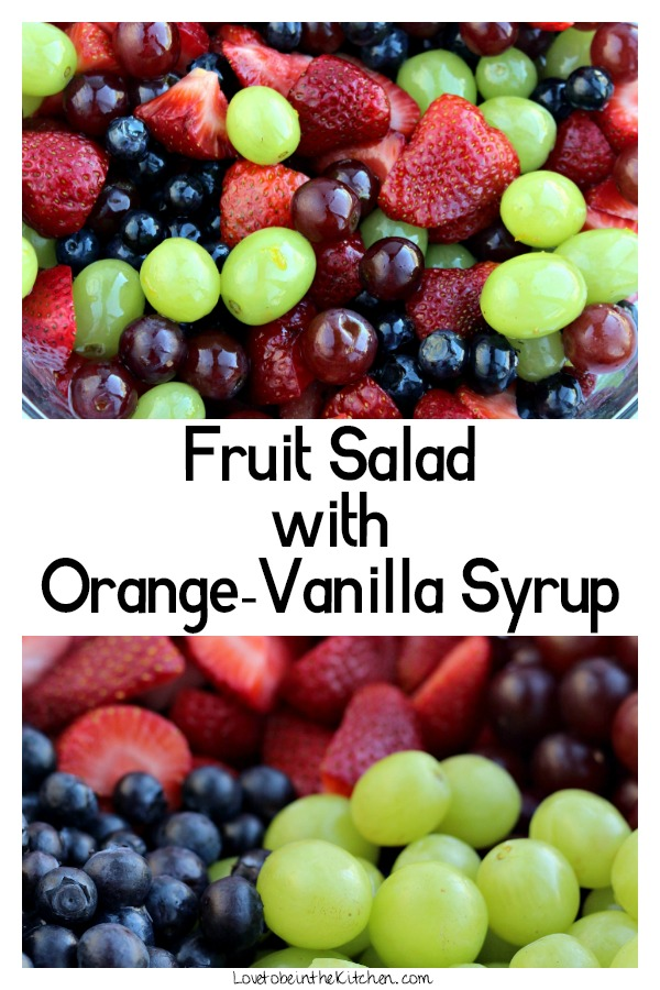Fruit Salad with Orange-Vanilla Syrup