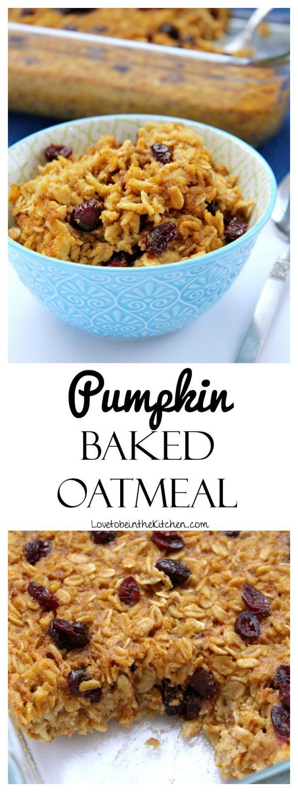 Pumpkin Baked Oatmeal