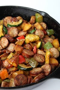 Chicken Sausage and Vegetable Skillet