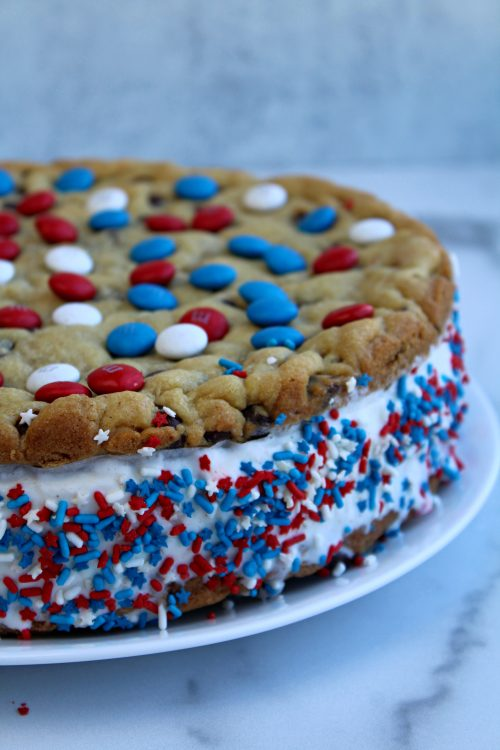 Patriotic Giant Ice Cream Chocolate Chip Sandwich