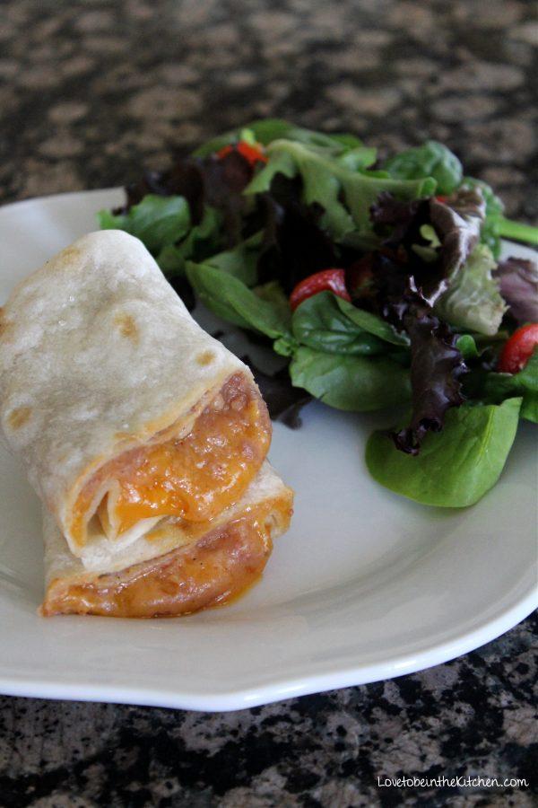 Easy Bean and Cheese Burritos