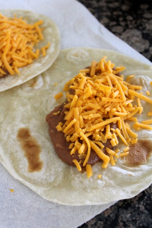 Refried Beans and Cheese Burritos