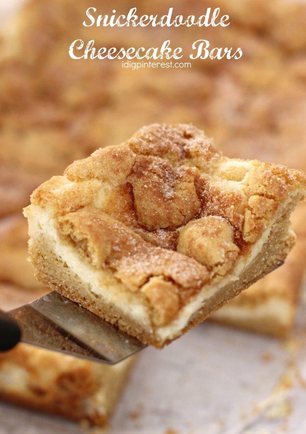 Snickerdoodle Cheesecake Bars
