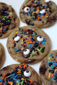 Halloween Sprinkle Chocolate Chip Cookies