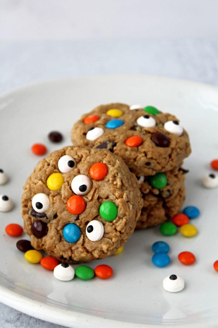 Healthier Halloween Monster Cookies