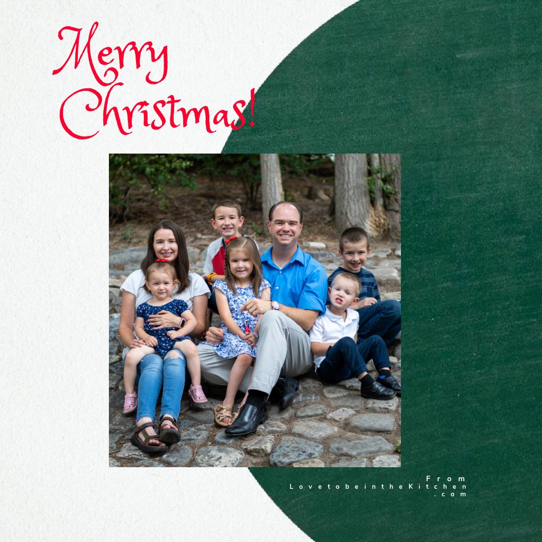 Merry Christmas Card from LovetobeintheKitchen