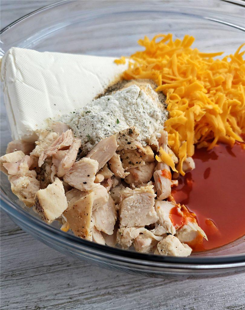 Ingredients for  Buffao Chicken Dip