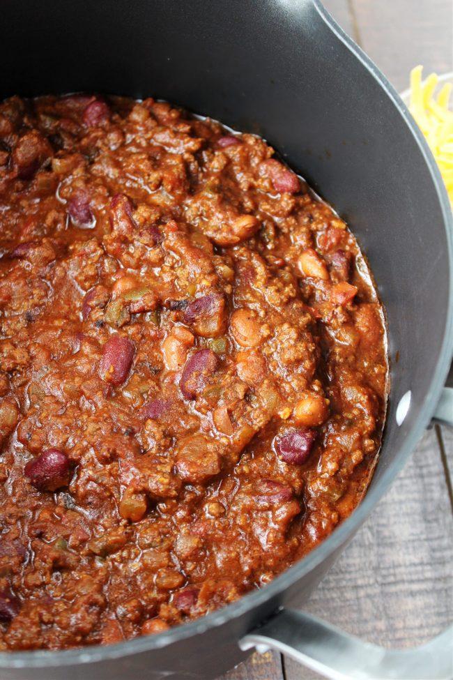 A pot full of chili