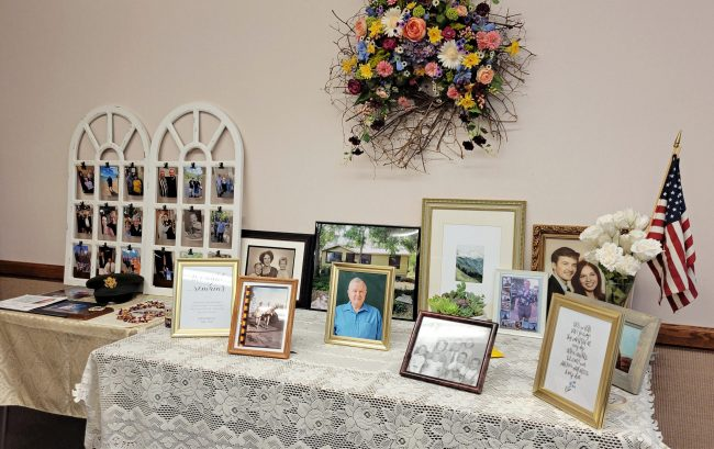 Memorial Table for Funeral