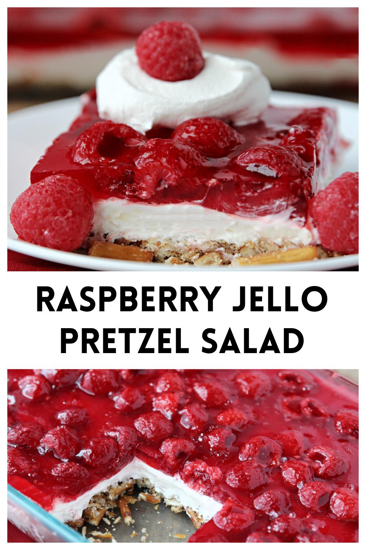 Raspberry Jello Pretzel Salad