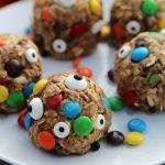 Halloween Monster Cookie Energy Bites